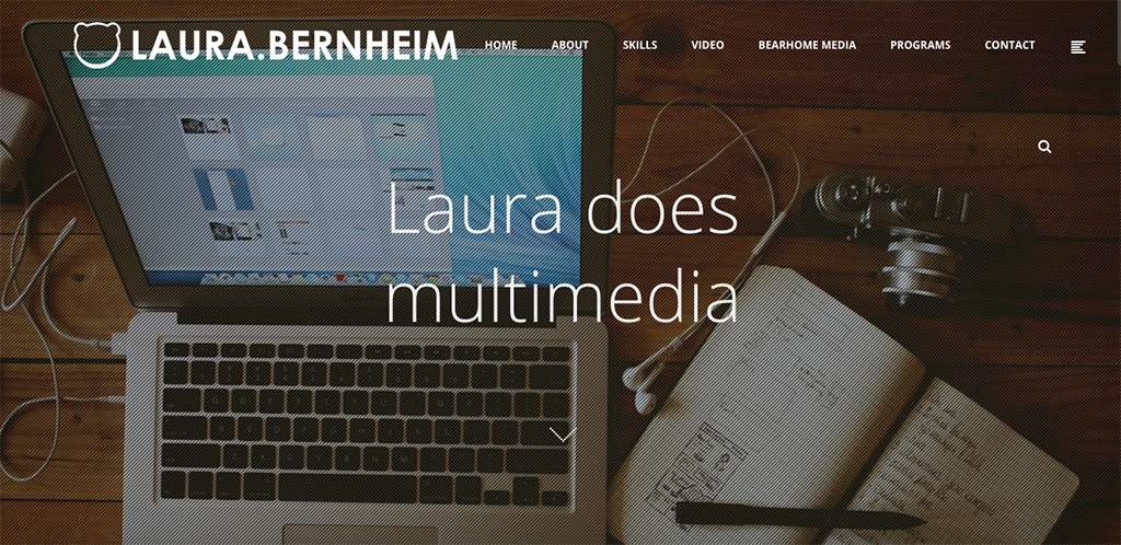 screenshot of laurabernheim.com